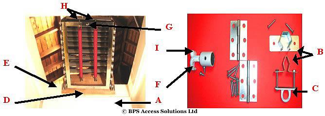 concertina loft ladder fitting guide ladders scaffold. Black Bedroom Furniture Sets. Home Design Ideas